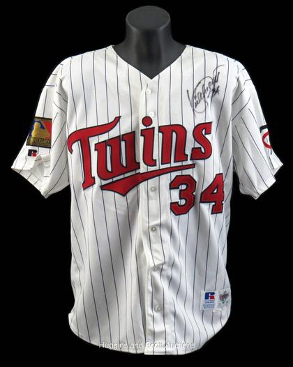 differently 58067 be50e Kirby Puckett 1994 Minnesota Twins Signed Game-Worn Home ...