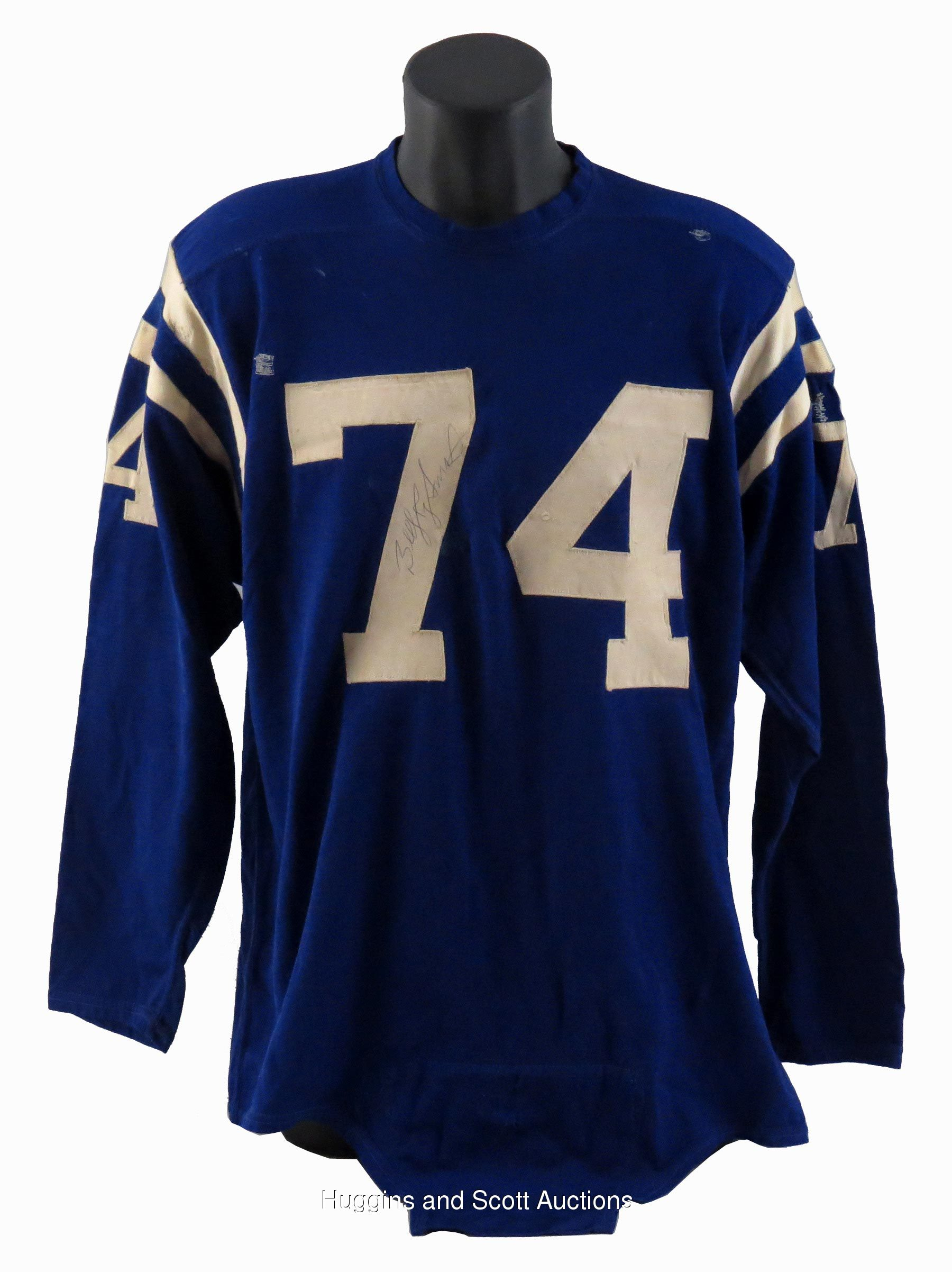 purchase cheap 37bc0 6373f Billy Ray Smith, Sr. Mid-1960s Signed Game-Worn Baltimore ...