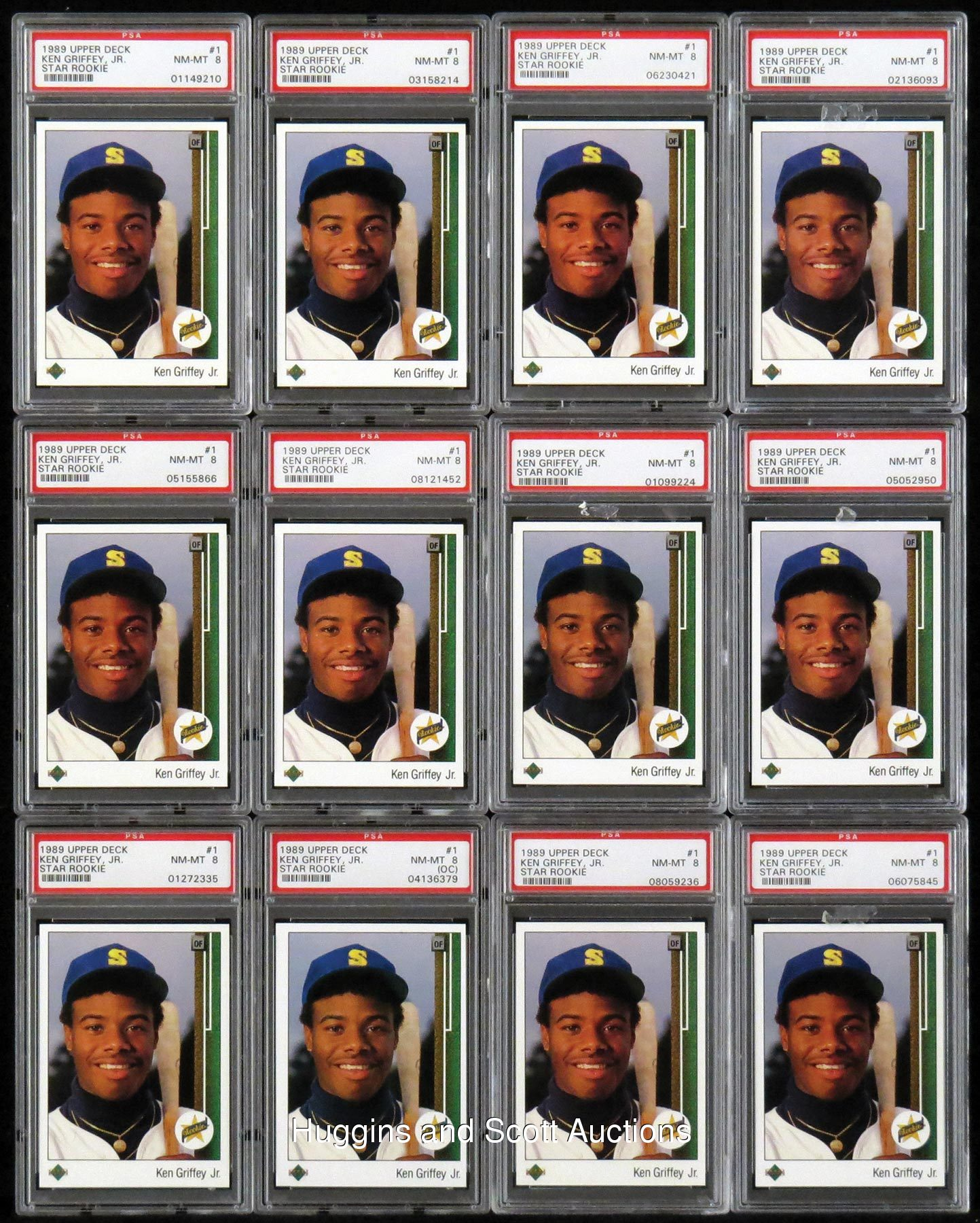 (30) 1989 Ken Griffey Jr. Graded Rookie Cards With (12